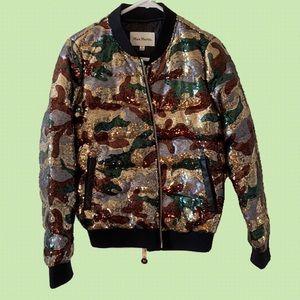 Max Martin Camo sequin print jacket